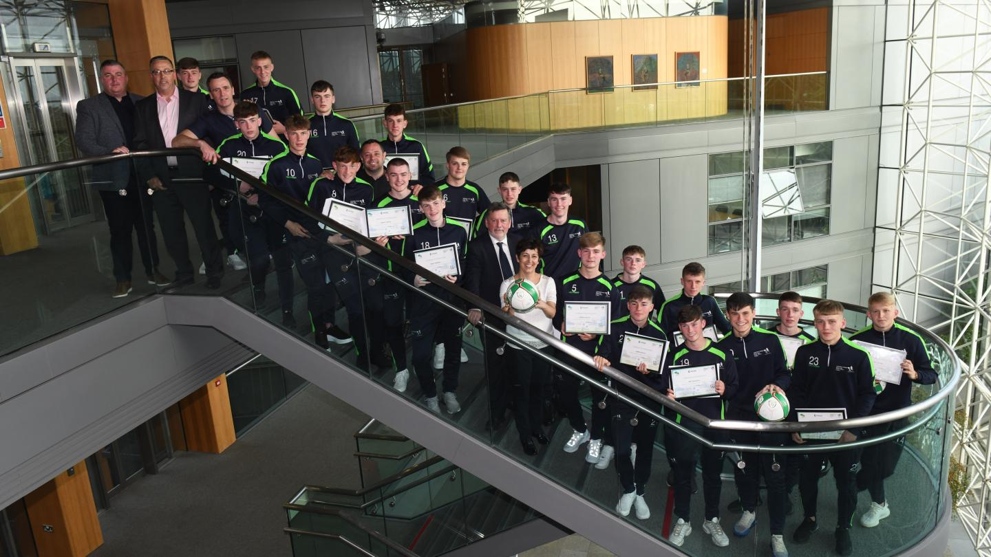 Council honour graduates from  TY Football and Fitness Course